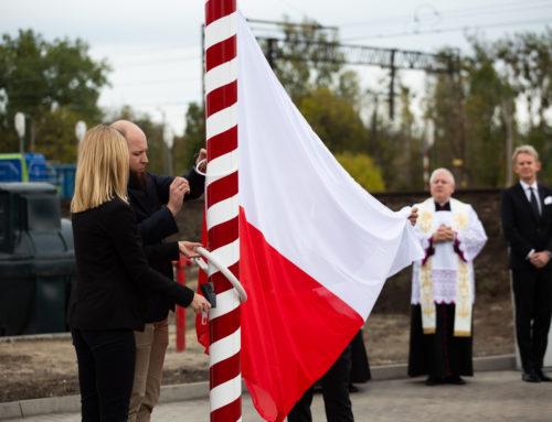 Uroczyste podniesienie flagi wMałaszewiczach